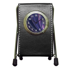 Purple Fractal Pen Holder Desk Clocks