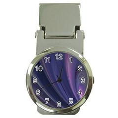 Purple Fractal Money Clip Watches