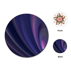 Purple Fractal Playing Cards (round)