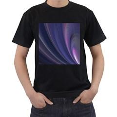 Purple Fractal Men s T Shirt (black)
