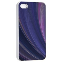 Purple Fractal Apple iPhone 4/4s Seamless Case (White)