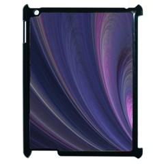 Purple Fractal Apple iPad 2 Case (Black)