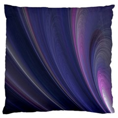 Purple Fractal Large Cushion Case (two Sides)