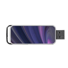 Purple Fractal Portable Usb Flash (one Side)