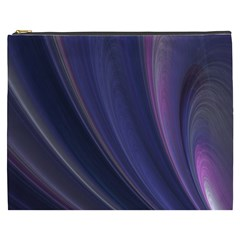 Purple Fractal Cosmetic Bag (XXXL)