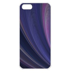 Purple Fractal Apple iPhone 5 Seamless Case (White)