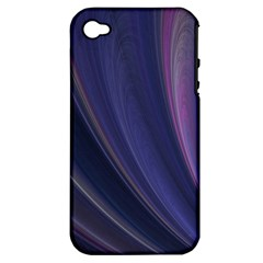 Purple Fractal Apple iPhone 4/4S Hardshell Case (PC+Silicone)