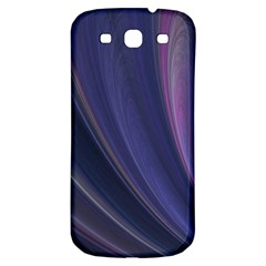 Purple Fractal Samsung Galaxy S3 S III Classic Hardshell Back Case