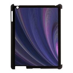 Purple Fractal Apple Ipad 3/4 Case (black)