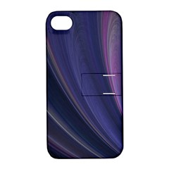 Purple Fractal Apple iPhone 4/4S Hardshell Case with Stand