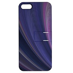 Purple Fractal Apple iPhone 5 Hardshell Case with Stand