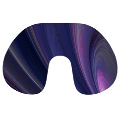 Purple Fractal Travel Neck Pillows