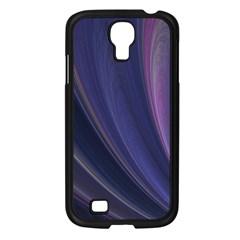 Purple Fractal Samsung Galaxy S4 I9500/ I9505 Case (Black)
