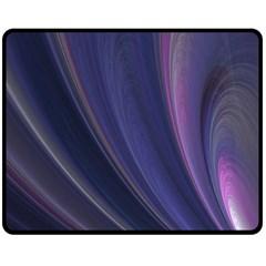 Purple Fractal Double Sided Fleece Blanket (Medium)