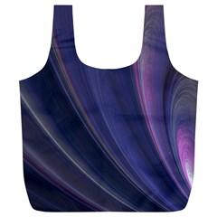 Purple Fractal Full Print Recycle Bags (L)