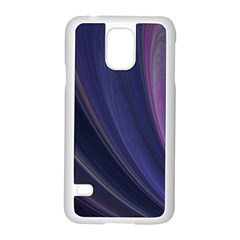 Purple Fractal Samsung Galaxy S5 Case (White)