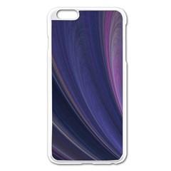 Purple Fractal Apple iPhone 6 Plus/6S Plus Enamel White Case