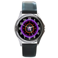 Hypocloid Round Metal Watch