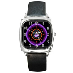 Hypocloid Square Metal Watch