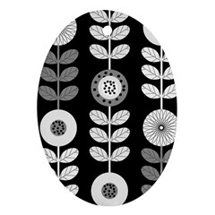 Floral Pattern Seamless Background Ornament (oval)
