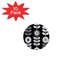 Floral Pattern Seamless Background 1  Mini Magnet (10 Pack)