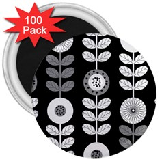 Floral Pattern Seamless Background 3  Magnets (100 pack)