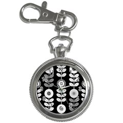 Floral Pattern Seamless Background Key Chain Watches