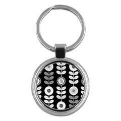 Floral Pattern Seamless Background Key Chains (round)