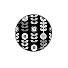 Floral Pattern Seamless Background Hat Clip Ball Marker (10 pack)