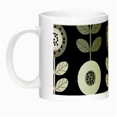 Floral Pattern Seamless Background Night Luminous Mugs