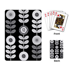 Floral Pattern Seamless Background Playing Card