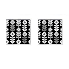 Floral Pattern Seamless Background Cufflinks (Square)