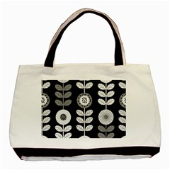 Floral Pattern Seamless Background Basic Tote Bag