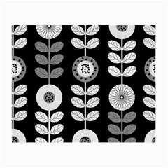 Floral Pattern Seamless Background Small Glasses Cloth (2-Side)
