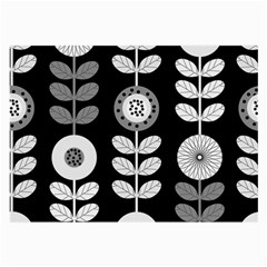Floral Pattern Seamless Background Large Glasses Cloth (2 Side)