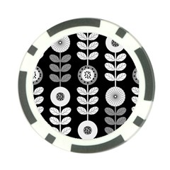 Floral Pattern Seamless Background Poker Chip Card Guard