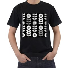 Floral Pattern Seamless Background Men s T Shirt (black)