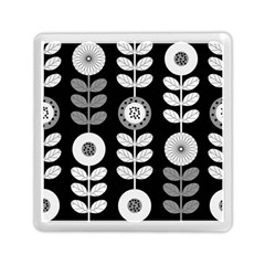 Floral Pattern Seamless Background Memory Card Reader (square)