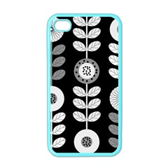 Floral Pattern Seamless Background Apple iPhone 4 Case (Color)