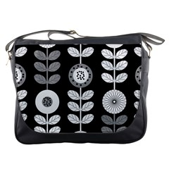 Floral Pattern Seamless Background Messenger Bags
