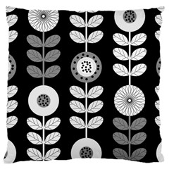 Floral Pattern Seamless Background Large Cushion Case (One Side)