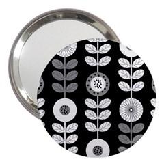 Floral Pattern Seamless Background 3  Handbag Mirrors