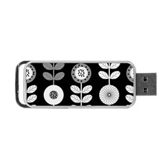 Floral Pattern Seamless Background Portable USB Flash (One Side)