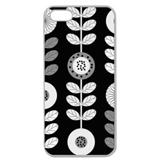 Floral Pattern Seamless Background Apple Seamless iPhone 5 Case (Clear)