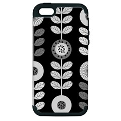 Floral Pattern Seamless Background Apple iPhone 5 Hardshell Case (PC+Silicone)