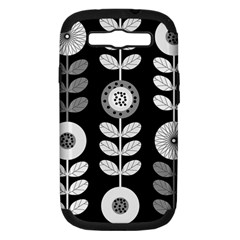 Floral Pattern Seamless Background Samsung Galaxy S III Hardshell Case (PC+Silicone)