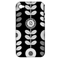Floral Pattern Seamless Background Apple Iphone 4/4s Hardshell Case (pc+silicone)