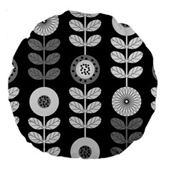 Floral Pattern Seamless Background Large 18  Premium Round Cushions