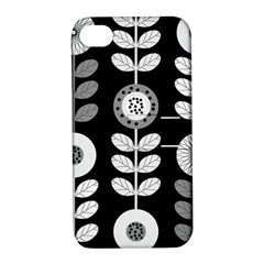 Floral Pattern Seamless Background Apple Iphone 4/4s Hardshell Case With Stand