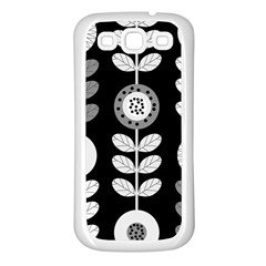 Floral Pattern Seamless Background Samsung Galaxy S3 Back Case (White)